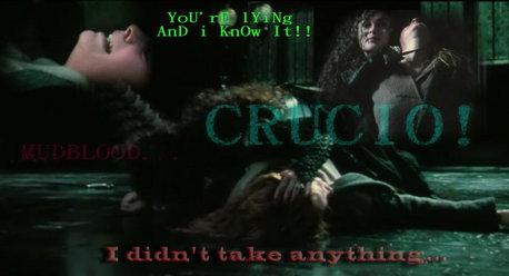 Bellatrix pwns Hermione ^_^
