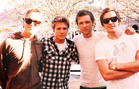 Yeah, new page! McFly--Danny's the mum, Tom's the dad, and Dougie and Harry are the twins :D (Tom,