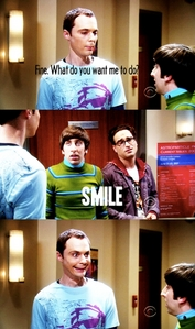 i love his smile lol im watching bbt right now actually