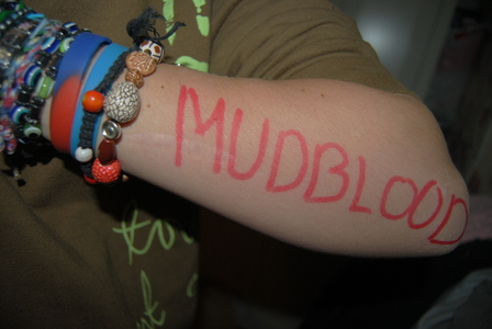 To Write Mudblood On Her Arms<3