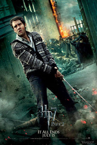 Neville can go into battle with a knitted cardigan and still look bad-ass :p