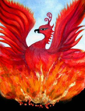 I really like phoenixes, and I like this one's head feathers.:) The artists are Eileen Casey and Enda