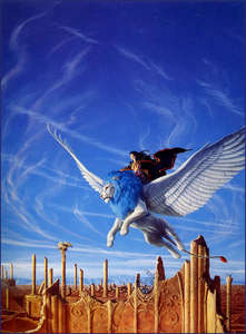 Emla makes the best birds! She's very talented.  This one is by Michael Whelan and I found it on phot