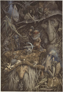 This is by Brian Froud and I found it here: http://douxquelamort.tumblr.com/post/1551424354/brian-fro