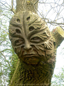 This woodcarving is by grinagog [real name unknown] on DeviantArt and I found it here: http://grinago