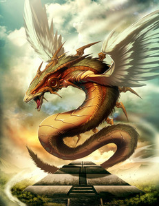 Sorry! I sad I don't speek english so well! I found this Quetzalcoatl on DeviantArt by GENZOMAN (real
