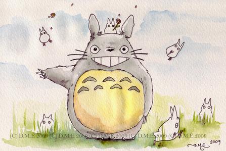 Totoro fanart by tavington on DeviantArt [real name Donna Marie Evans]. I love Totoro!!! XD I found i