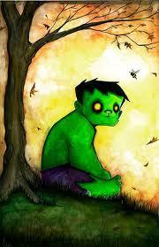 This chibi, cute, little and sad Hulk is by uminga on DeviantArt. Full name is Christopher Uminga. Ne