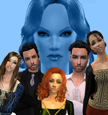 I love Nora Roberts, so I chose her Circle Trilogy, and someone who likes this video game called Sims