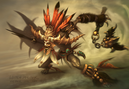 Ha that's pretty cool. I found this Witch Doctor here: http://o-ze.com/diablo-3/diablo-artwork-witch