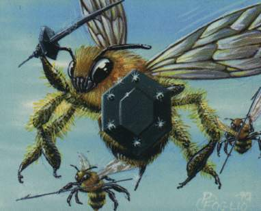 That's pretty cool. :] I love owls too. Here is a new aspect of killer bees. Haha I found it here: h