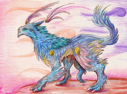 This is a wind dragon by Carbuncle found on Deviant Art: http://carbuncle16.deviantart.com/art/Wind-D