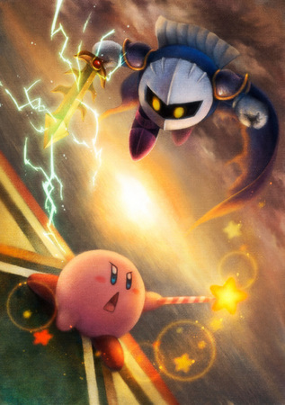I doubt that. Kirby fights with bare hands. Meta Knight fights with Sword and armor. Kirby inhales me
