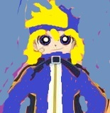 Surename : Momito Hashimoto  Other name : York  Gender : Boy  Rowdyruff's color : Cobalt Blue  Weapon