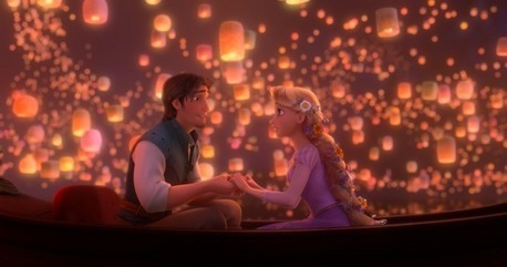 My Favorite moment is When Eugene takes Rapunzel to show the lights and they hold each other hands!!i