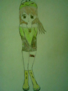 Vocaloid Name:Kaeru(meaning frog) Midorikagi(from green and key) Gender:female Age:14 Number:406 Hair