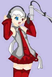 Vocaloid Name: Mieku Zaki Gender: Female Age: 15-16 Number: 365 Hair Color and Style: Long Ponytail,
