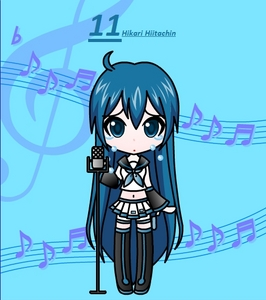 Info: Vocaloid Name: Hikari Hiitachi Gender: Female Age: 15 Number: 11 Hair Color and Style: sho