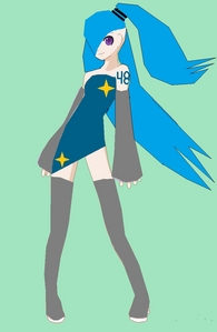 Info: Vocaloid name: Misuto Tatakau Gender: female Age: 14 Number: 48 hair color and style: long neon