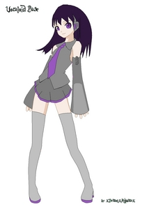 Info: Vocaloid Name:Tesuki Harui Gender:female Age:15 Number:05 Hair Color and Style:dark purple and