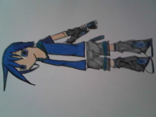 Vocaloid Name: Ryoka futatsuno Gender:Male Age:13 Number:22   Hair Color and Style:Blue Eye Color:blu