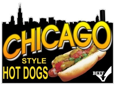 My お気に入り Hot Dog is the Chicago Style Hot Dog. Dill Pickles, Sweet Relish, Hot Peppers, Tomatoes,