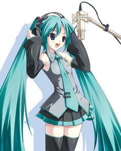 Miku Hatsune From Vocaloid.