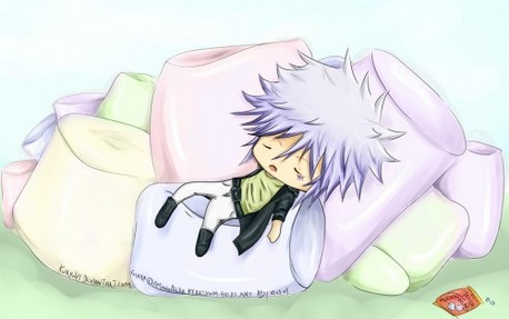 Byakuran from Katekyo Hitman Reborn! P.S. He loves marshmallows