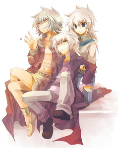 Thief King Bakura, Yami Bakura and Ryou Bakura from Yugioh