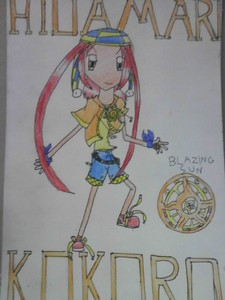 Name: Kokoro Hidamari Age: 12 Gender: Female (tomboyish) Hair Colour: Red Eye Colour: مالٹا, نارنگی Per