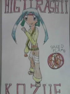Name: Kozue Higurashii Age: 16 Gender: Female Hair Colour: Dark Green Eye Colour: Dark Green Per