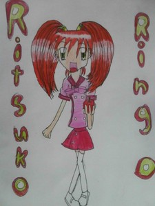 Name: Ringo Ritsuko Age: 15 Gender: Female Hair Colour: Red Eye Colour: Green Personality: Very