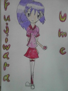 Name: Ume Fujiwara Age: 15 Gender: Female Hair Colour: Light Purple Eye Colour: Purple Personali