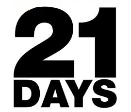 21 days to go - it's only three weeks!