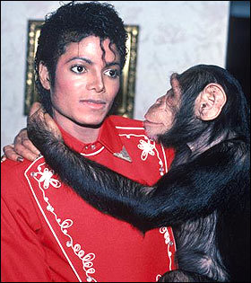 There is Michael and Bubbles :)  Michael with a child ?