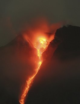 God's volcán is beautiful, but hard and deadly for us.
