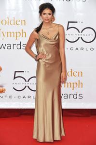 44: Nina in a silver dress