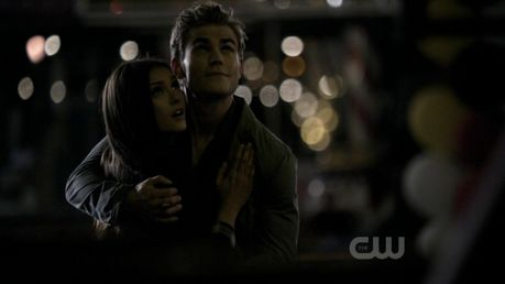 Uh,sorry,I didn't saw that this was already here...:/  24. Stefan and Elena in front of Elena's house