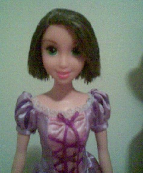Art Photo Tangled Short Hair Rapunzel