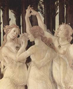 the grace of a painting 由 Botticelli