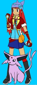 Name: Suzzana Age: 16 Gender: female Role: Evolution Gym leader-Recedentia Poke'mon: Dawn (E