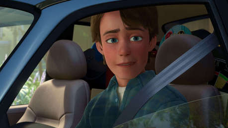 Here's Andy in his car from that scene.