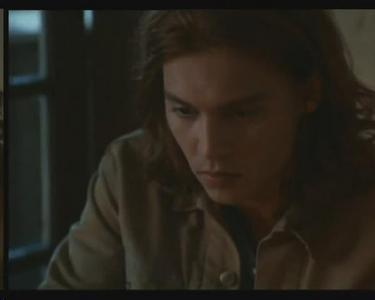 For MarlenaLovett: that's Benny&Joon!! There is suffering in his eyes.