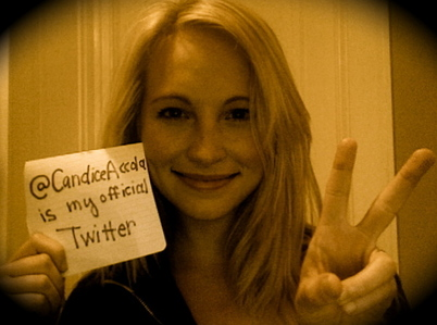 ^So adorable♥ 188: Candice being interviewed in 'Mystic Grill'!