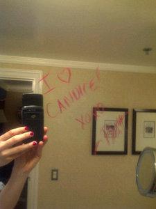 Yeah!  199: Candice drinking something :)