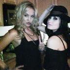 2. With friend(s) Tiffany Thornton