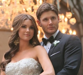 Such a beautiful couple<3 Next: Jensen with sunglasses