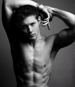 Jensen pulling a silly face
