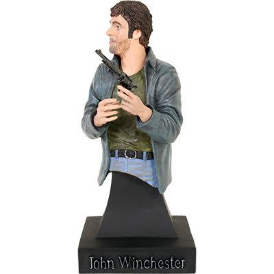 """[b][u]Supernatural """"Devil's Trap"""" John Winchester Minibust[/u][/b] [u]Price:[/u] $59.95 This mini b"""