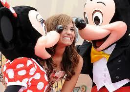 Mickey <i> and </i> Minnie! Haha Find... Demi with a Mickey mouse shirt on!